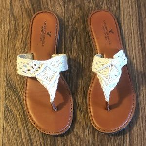 American Eagle Crocheted Sandals